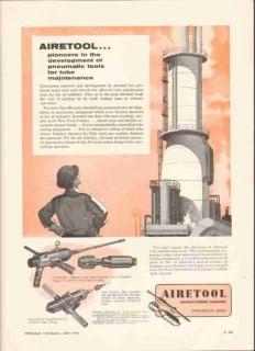 Airetool Mfg Company 1959 Vintage Ad Pneumatic Tool Oilfield Pipe Tube