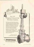 Chapman Valve Mfg Company 1959 Vintage Ad Oil Gas Refinery Cast Iron