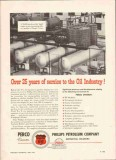 Phillips Petroleum Company 1959 Vintage Ad Oil Perco 25 Years Service