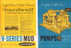 Cardwell Mfg Company 1959 Vintage Ad Oil Field Well V-Series Mud Pumps