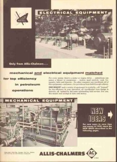 Allis-Chalmers 1959 Vintage Ad Oil Petroleum Equipment Pumps Engines