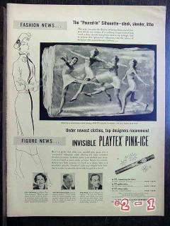 playtex pink ice girdle 1950 invisable lingerie vintage ad