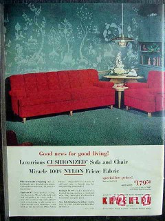 kroehler furniture company 1953 nylon sofa chair furniture vintage ad