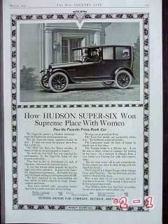 hudson super six 1917 women limousine car vintage ad