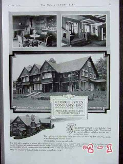 berkshire hill ny 1917 house country home vintage ad