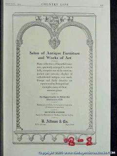b altman company 1925 salon antique furniture works art vintage ad