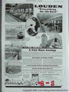 louden machinery company 1925 farm equipment troughs vintage ad
