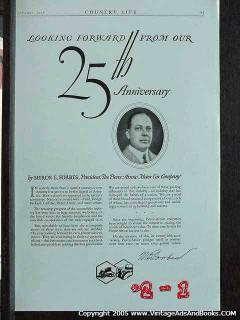 pierce-arrow 1926 myron forbes 25th anniversary car vintage ad