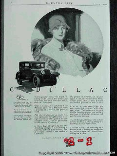 cadillac 1926 brougham art by barclay car vintage ad