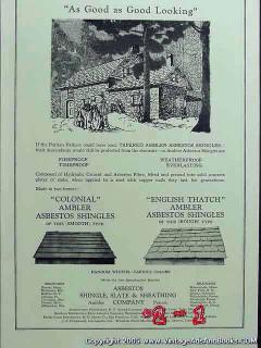 asbestos shingle slate sheathing company 1926 roof shingles vintage ad