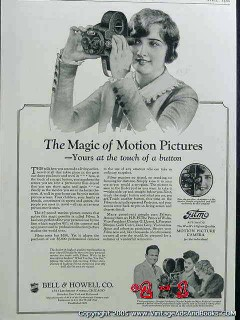 bell and howell 1926 filmo motion picture camera vintage ad