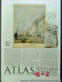 atlas portland cement 1926 thomas boys art vintage ad