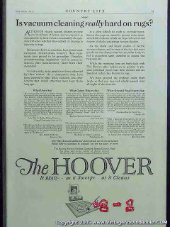 hoover suction sweeper company 1922 grider cornell vintage ad