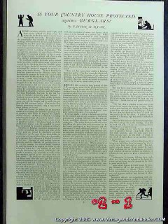 is your county house protected against burglars 1922 vintage article