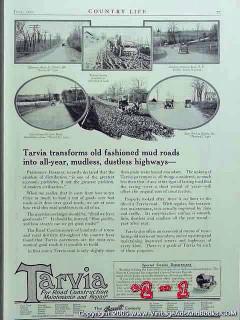 barrett company 1922 tarvia road highway construction vintage ad