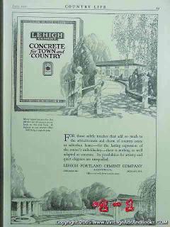 lehigh portland cement company 1922 construction concrete vintage ad
