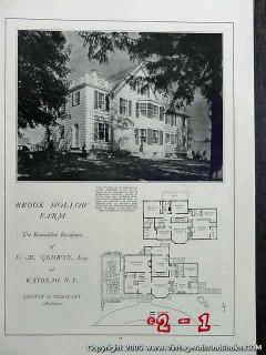brook hollow farm 1922 fm godwin estate katonah ny vintage article