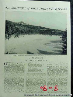 the hudson river new york 1922 lake tear of clouds vintage article