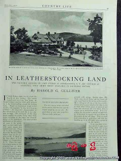 in leatherstocking land 1922 lake otsego cooperstown ny vintage ad