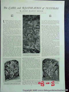 care and restoration of textiles 1922 jessie m breese vintage article