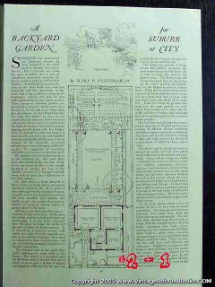 backyard garden suburb or city 1922 country home vintage article
