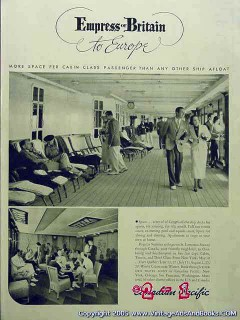 canadian pacific 1936 empress of britain cruise ship vintage ad