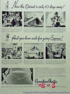 canadian pacific 1935 orient cruise empress ocean liner vintage ad