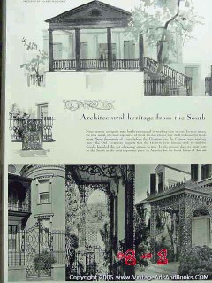 ironwork architectural heritage from the south 1936 vintage article