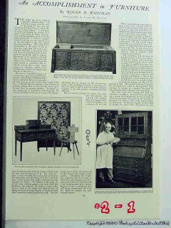 accomplishment in furniture 1926 fenderson carving vintage article
