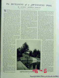 building a swimming pool 1926 george hebden corsan vintage article