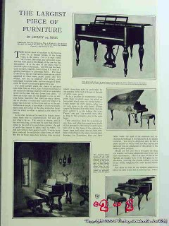 piano - the largest piece of furniture 1926 pianos vintage article
