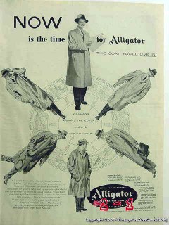 alligator all weather mens coats 1953 now is the time vintage ad