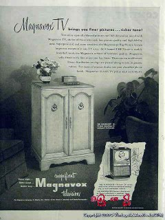 magnavox company 1953 normandy 21 finer pictures richer tv vintage ad