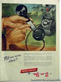 bell telephone system 1953 western electric felt our name vintage ad