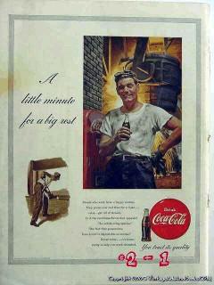 coca cola 1953 coke steel mill smelter soda pop vintage ad