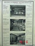 benson and hedges 1906 store interior havana cigars humidor vintage ad