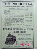 prudential insurance company 1906 13th annual report vintage ad