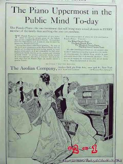 aeolian company 1906 pianola piano uppermost public mind vintage ad