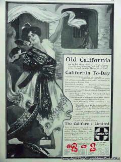 california limited 1906 santa fe railroad rr vintage ad