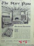 starr piano company 1906 art by m dennis eternal harmonies vintage ad