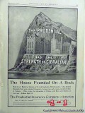 prudential insurance company 1906 strength of gibraltar vintage ad