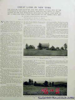cheap land in new york 1906 arthur huntington gleason vintage article
