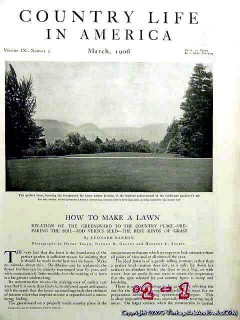 how to make a lawn 1906 grass sod garden vintage article