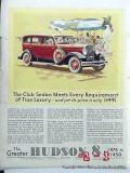 hudson 8 1931 beach ladies club sedan car vintage ad