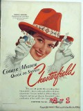 chesterfield cigarettes 1941 patricia morison vintage ad
