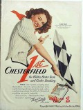 chesterfield cigarettes 1941 ellen drew reaching for sun vintage ad