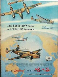 lockheed aircraft 1942 world war ii wwii airplane vintage ad