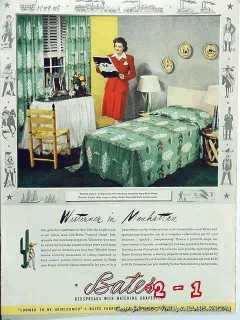 bates painted desert 1942 bedspread drape western manhattan vintage ad