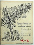 bell telephone system 1943 christmas rush telephone wire vintage ad