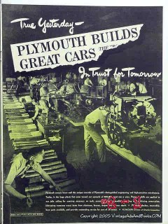 plymouth 1943 ww2 cannon tank chrysler vintage ad